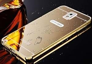 ARNAV Luxury Metal Bumper + Acrylic Mirror Back Cover Case For Samsung Galaxy S5 I9600-(GOLD)