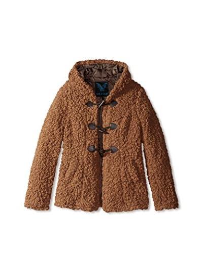 Yoki Women's Faux Fur Toggle Jacket  [Light Brown]