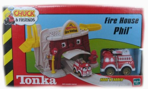 Tonka Lil' Chuck & Friends Fire House Phil Playset with Hook' N Ladder Fire Truck (Phil And Lil compare prices)