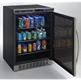 Avanti cubic Built In Refrigerator Glass Stainless