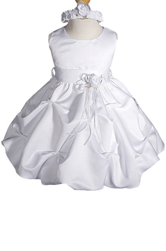 AMJ Dresses Inc Baby-girls White Flower Girl Christening Dress Sizes S to 4t