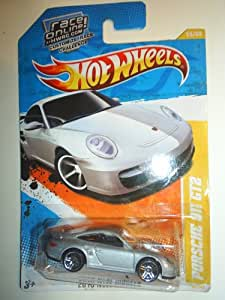 hot wheels 2011 014 porsche 911 gt2 silver 2010 new models race online card 1 64. Black Bedroom Furniture Sets. Home Design Ideas