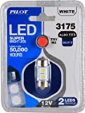 Pilot Automotive IL-3175W White 2-SMD LED Dome Light Bulb