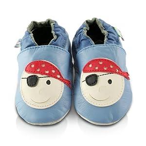 Snuggle Feet - Suaves Zapatos De Cuero Del Bebé Pirata