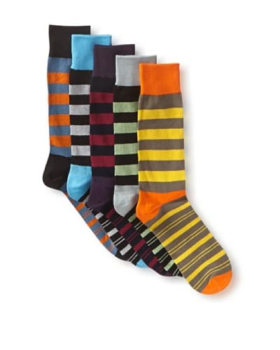 English Laundry Men's Fancy Colorblock - 5 Pack Socks