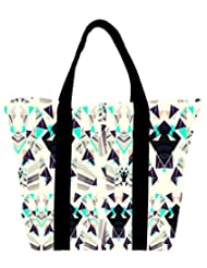 Snoogg Diamond Abstract Pattern Womens Large Shoulder Tote Bag