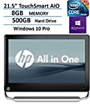 """2016 HP Touch-Smart Elite 21.5"""" All-in-One FHD Touchscreen Desktop, Intel Core i5-2400S up to 3.3GHz, 8GB DDR3, 500GB HDD 7200RPM, WIFI, DVD, Windows 10 Professional 64 Bit (Certified Refurbished)"""