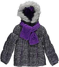 London Fog Little Girls Black amp White Printed Outerwear Coat WPrinted Scarf