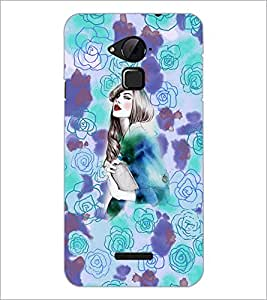 PrintDhaba Fantasy Girl D-5890 Back Case Cover for COOLPAD NOTE 3 LITE (Multi-Coloured)