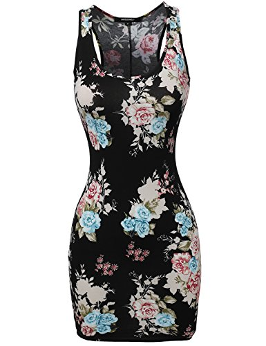 Awesome21-Womens-Sleeveless-Floral-printed-Mini-Dress