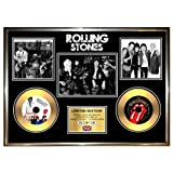 THE ROLLING STONES - A3 LIMITED EDITION SIGNED FRAMED DOUBLE GOLD VINYL RECORD CD & PHOTO DISPLAY grrr mick jagger