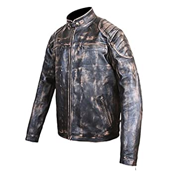 Antique Black Men's Vintage Distressed Retro Motorcycle Biker Leather jacket - TOP SELLER