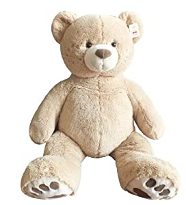"Teddy Bear Plush Toy 40"" - Tan Color from Chrisha Creations"