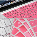 """Pink Keyboard Silicone Skin Cover for Apple Macbook Air (13"""") and Macbook Pro (13"""", 15"""", 17"""") (US version)"""