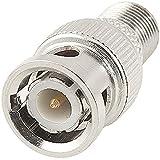 BNC Male Plug to F Type Female Jack TV Adapter RF Coax Connector 2 Pcs