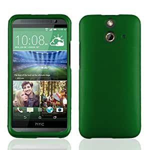 Cell-Pak HTC E8 Rubber Paint Case - Retail Packaging - Green