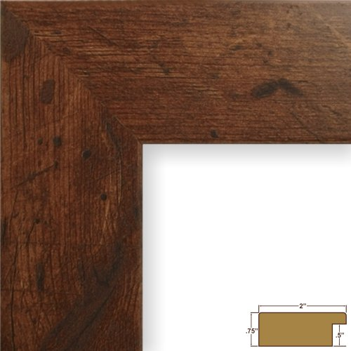 Craig Frames 74004 12 By 18-Inch Picture Frame, Smooth Wood Grain Finish, 2-Inch Wide, Dark Brown Rustic Pine front-561303