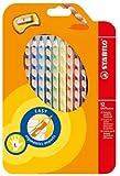 STABILO EASYcolors 12er Etui mit Spitzer links - ergonomische Buntstifte von Stabilo