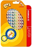STABILO EASYcolors Colouring Pencils for Left-Handers Comfortable Grip with Sharpener - Assorted Colours (Wallet of 12)