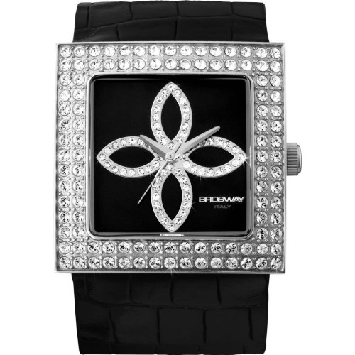 Brosway Collection MF04 - Reloj unisex de cuarzo, correa de acero inoxidable color negro
