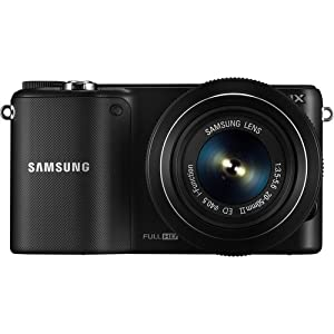 Samsung NX2000 Smart Wi-Fi Digital Camera Body & 20-50mm Lens (Black) - EV-NX2000BABUS