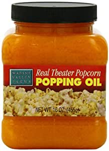 Wabash Valley Farms Real Theater Popcorn Popping Oil, 16-Ounce Jars (Pack of 3)