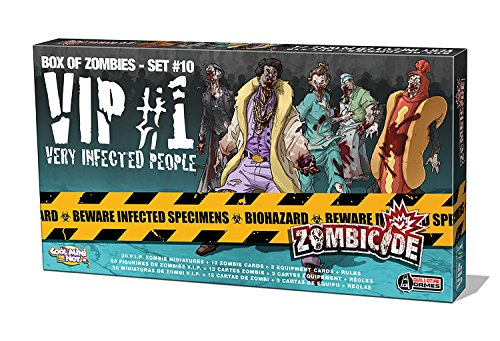 Guillotine Games - Zombicide, Gioco da tavolo - Espansione: VIP Very Infected People, Set di personaggi