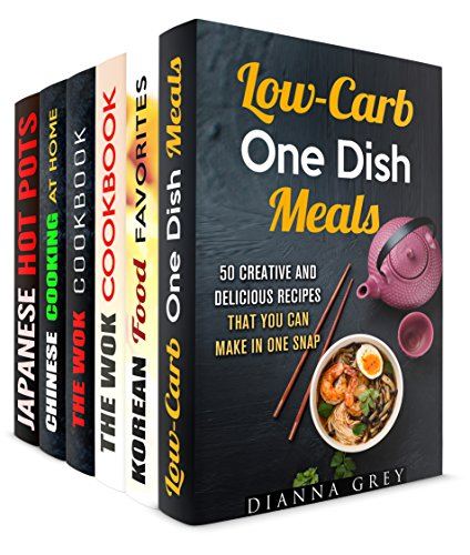 One-Dish Meals Box Set (6 in 1): Your Everyday Stir-Fry Favorites for One (Stir-Frying Healthy Recipes) by Dianna Grey, Martha Olsen, Carmen Haynes, Jessica Meyer, Tina Zhang, Miyuki Yoko