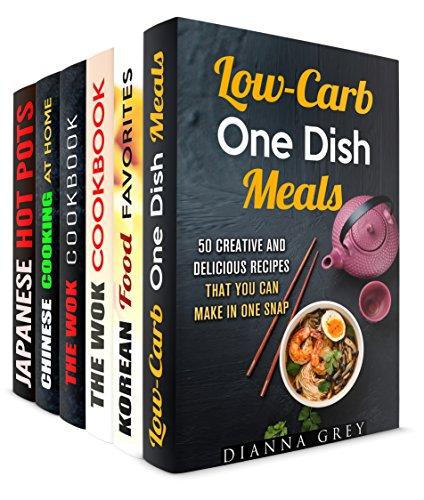One-Dish Meals Box Set (6 in 1): Your Everyday Stir-Fry Favorites for One (Stir-Frying Healthy Recipes) by Dianna Grey, Martha Olsen, Carmen Haynes, Jessica Meyer, Tina Zhang, Miyuki Yoko