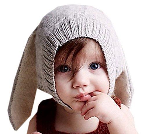 Biwinky Baby Rabbit Ear Winter Crochet Earmuff Earcap Knit Hat 0-5 Years