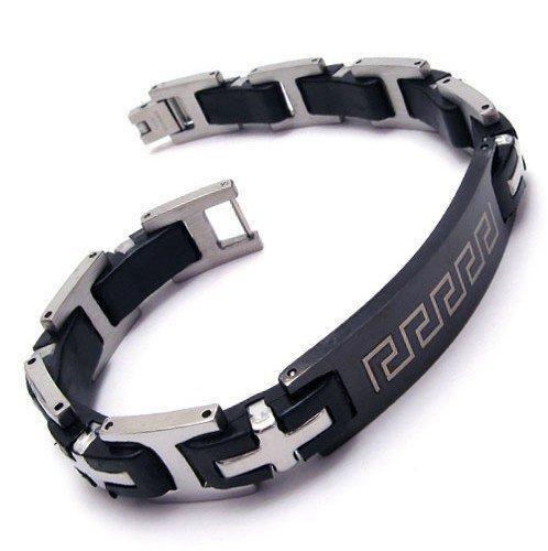 CET Domain SZ11-1104 Mens Empire Black Grain Titanium Bracelet Steel