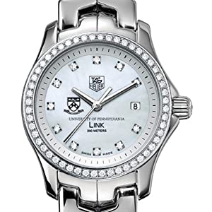University of Pennsylvania TAG Heuer Watch - Women's Link with Diamond