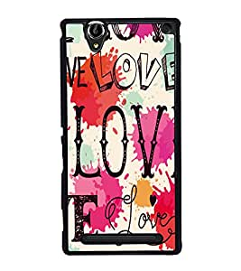 printtech Love Back Case Cover for Sony Xperia T2 Ultra , Sony Xperia T2 Ultra Dual