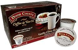 Door County Coffee Single Serve Cups for Keurig Brewers (Vanilla Creme Brulee, 36 Count)