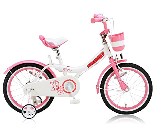 ROYALBABY(ロイヤルベイビー) 12インチ 14インチ 女の子向け 子供用自転車 幼児用自転車 キッズバイクバスケット ハンドルバークッション 前後泥除け付き RB-Jenny ピンク