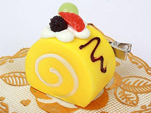 ロールケーキ型 ヘアピン 子ども イエロー スイートティーブレイク