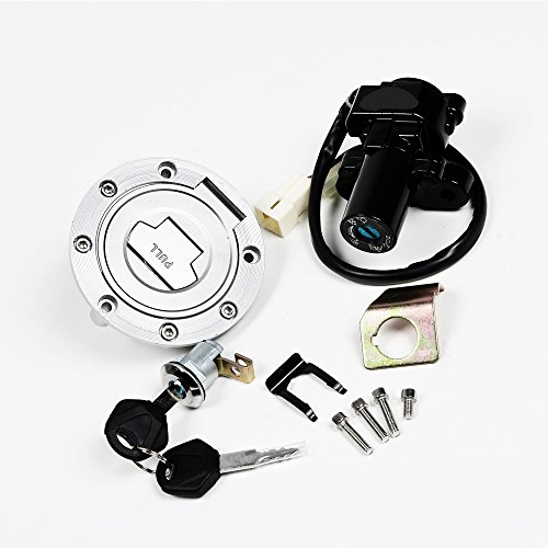 Astra Depot Fit Yamaha YZF R1 R6 R6S FZ6 FJR1300 Ignition Switch Lock Fuel Gas Cap Key Set (2008 Yamaha R1 Ignition Switch compare prices)