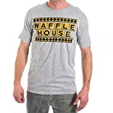 Official Waffle House Funny Vintage MENS T-SHIRT, Heather Grey, Large