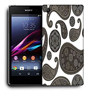 Snoogg Grey Pattern Printed Protective Phone Back Case Cover For Sony Xperia Z4