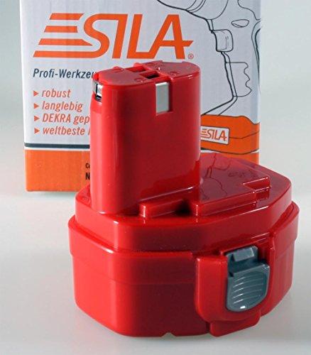 Sila Profi-Akku (212) für Makita, Werkzeugakku, Ersatzakku - 1422 kompatibel - 14,4Volt - 3000mAh - Ni-MH - Bauähnlich: 1433 / 1434 / 1435