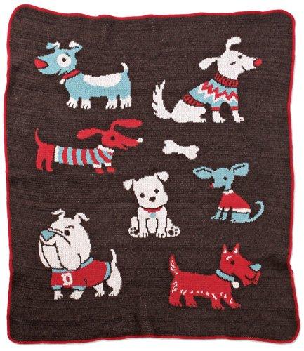 Green 3 Throw Blanket, Dog