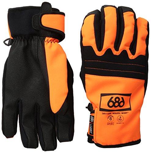 686 Men's Authentic Safety Gloves, Safety Orange, X-Large