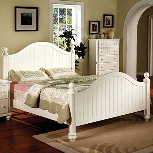 Bolton Classic Style White Finish Full Size 6-Piece Bedroom Set front-832842