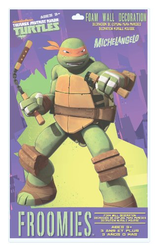 Teenage Mutant Ninja Turtles Michaelangelo Foam Wall Decoration, 18-Inch - 1
