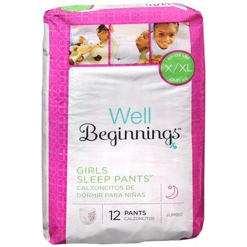 Well Beginnings Youth Sleep Pants Girl, Large/X-Large-12 ea - 1
