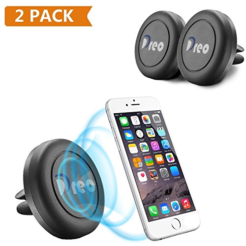 Dreo Universal Air Vent Magnetic Car Mount Phone Holder (2 Pack) - Black (Magnetic Car Vent Phone Holder compare prices)