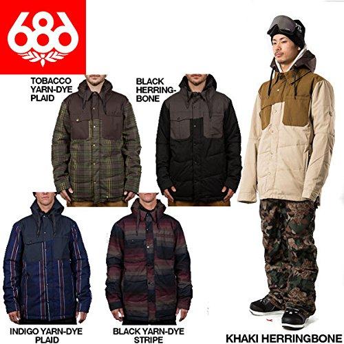 686 シックスエイトシックス2015-2016/AUTHENTIC Woodland Insulated Jacket メンズスノージャケット スノーボード スノーウエア/5カラー/XS〜XXL Tobacco Yarn Dye Plaid M