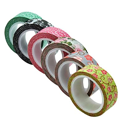 YazyCraft Decorative Patterned Paper Tapes pack of 6