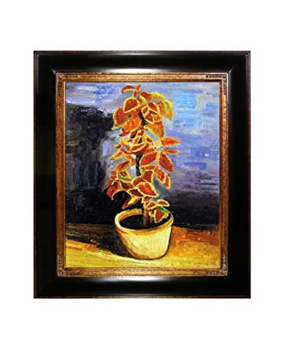 "Vincent van Gogh ""Coleus Plant In A Flowerpot"" Framed Hand-Painted Oil Reproduction"