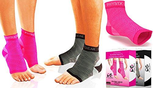 Fascite plantare a compressione per donna-uomo & per terapia del dolore-Spurs-piede-Tutore per caviglia, tallone maniche, con supporto per arco plantare, inserto per la circolazione#0,30 Meters-Porta del Doctor-Solette